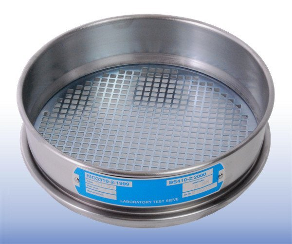 Mild Steel Square Hole Perforated Plate Sieve (200 mm diameter - selected mm apertures)