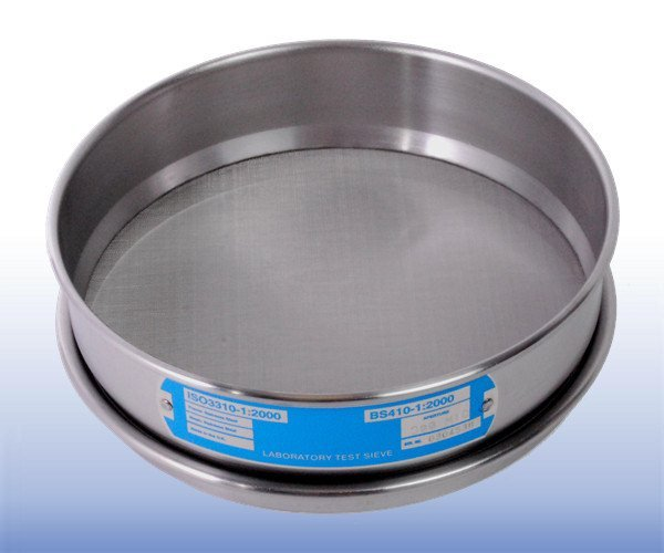 Stainless Steel Mesh Sieve (200 mm diameter - selected µm apertures)