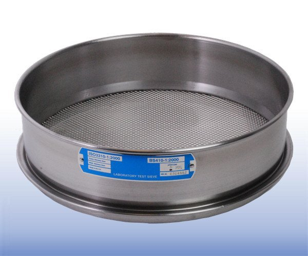 Stainless Steel Mesh Sieve (300 mm diameter - selected mm apertures)