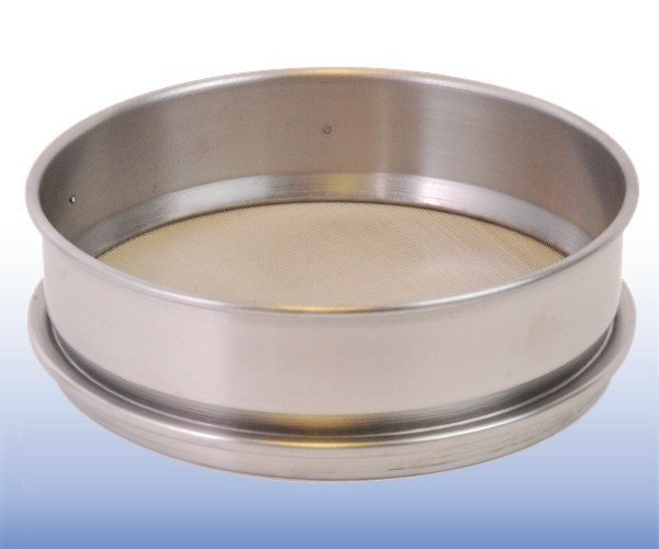 Stainless Steel Mesh Sieve (8 inch diameter - selected µm apertures)