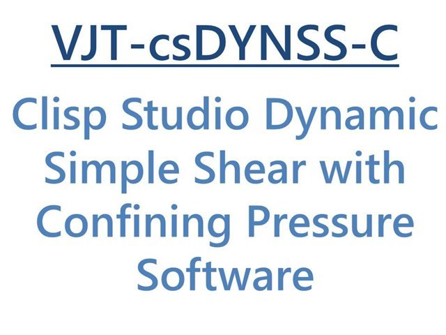 VJ Tech Ltd Clisp Studio DSS with Confining Pressure Software Module