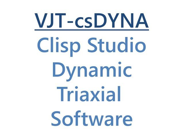 VJ Tech Ltd Clisp Studio Dynamic Triaxial Software Module