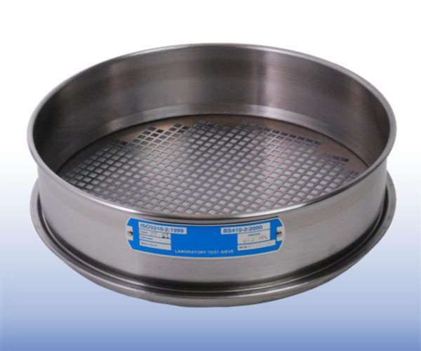 VJT-450P-xxx.xxMM - Mild Steel Square Hole Perforated Plate Sieve (300 mm diameter - selected mm apertures)