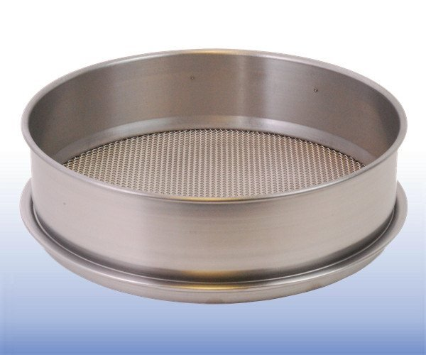 VJT-012W-xxx.xxMM - Stainless Steel Mesh Sieve (12 inch diameter - selected mm apertures)