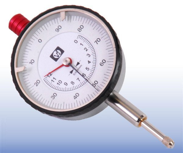 Mechanical Dial Gauge 12mm x  0.002mm (Anti-Clockwise Rotation)