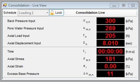 Example Consolidation Live Data View