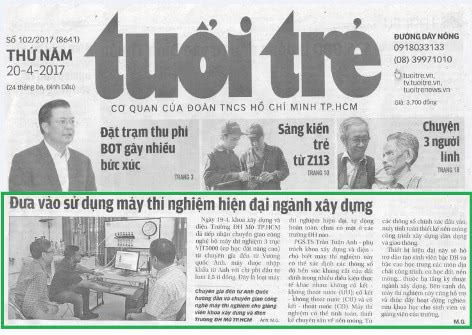 New VJ Tech installation featured in Vietnam national newspaper